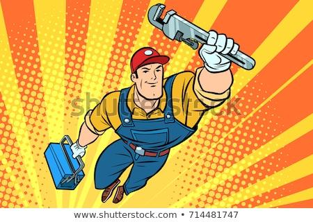 Loodgieter bouwer toilet Stockfoto © Krisdog