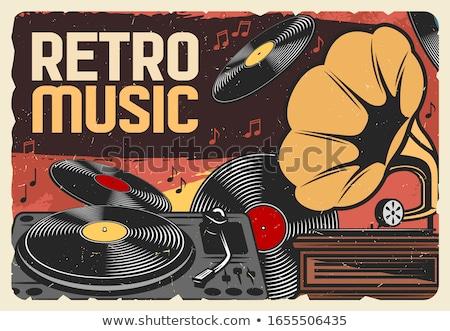 Zene bakelit lemez por felület papír Stock fotó © biv