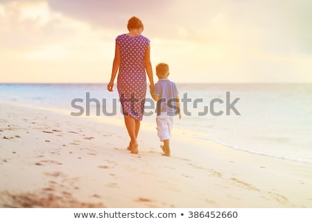 Mother and son by sea Stock photo © IS2