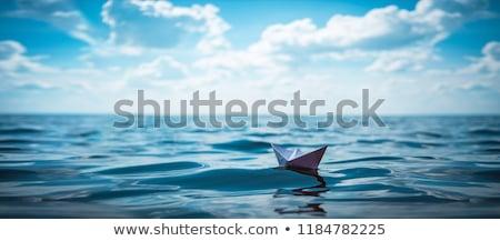 sea boats in the water stock photo © studioworkstock