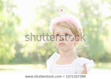 kettő · lányok · egy · visel · tiara · lány - stock fotó © is2