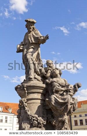 Stok fotoğraf: Prague Castle With Charles Bridge In Winter Prague Czech Repub