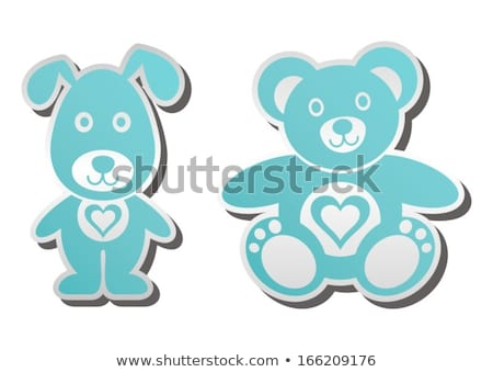 Funny girl with toy heart.  stock photo © Massonforstock