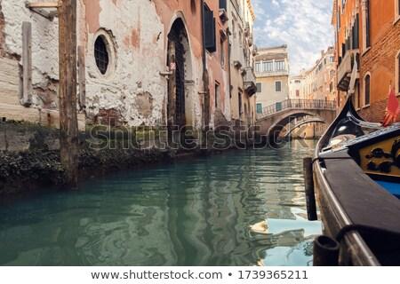 гондола верховая езда канал Венеция Италия Сток-фото © Givaga