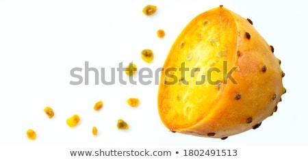 żółty gruszka biały owoców deser słodkie Zdjęcia stock © Digifoodstock