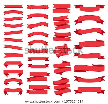 Retro Red Web Ribbon Set Stock photo © adamson