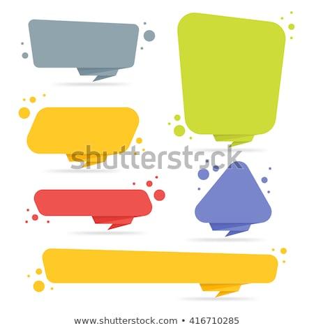 Vásár bannerek szett origami stílus üzlet Stock fotó © SArts