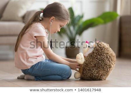 Beteg kicsi sündisznó rajz illusztráció néz Stock fotó © cthoman