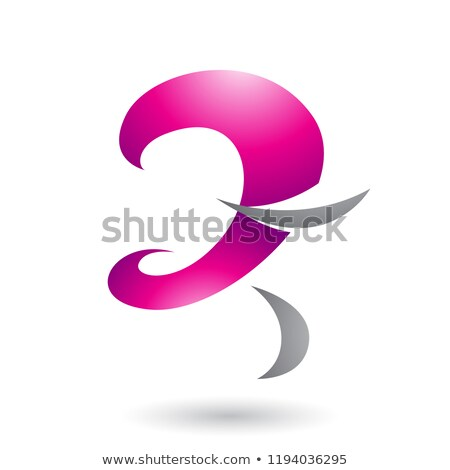 Magenta Glossy Curvy Fun Letter Z Vector Illustration Stock photo © cidepix