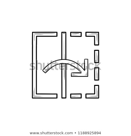 transform tool hand drawn outline doodle icon stock photo © rastudio