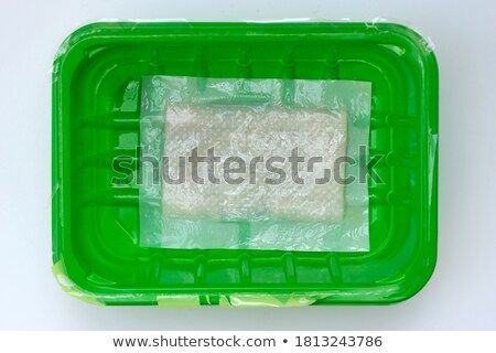 Stuk ruw vlees papier servet boven Stockfoto © dash