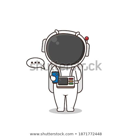 漫画 退屈 宇宙飛行士 見える ストックフォト © cthoman