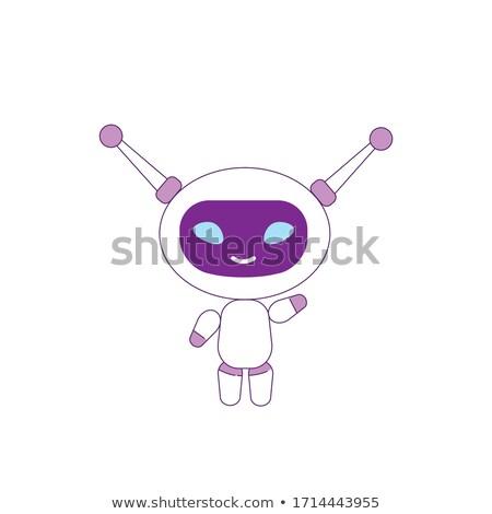 Weiblichen Roboter Karikatur Illustration rosa Stock foto © cthoman