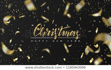 Happy New Year 2019 gold glitter holiday pine tree Stock photo © cienpies