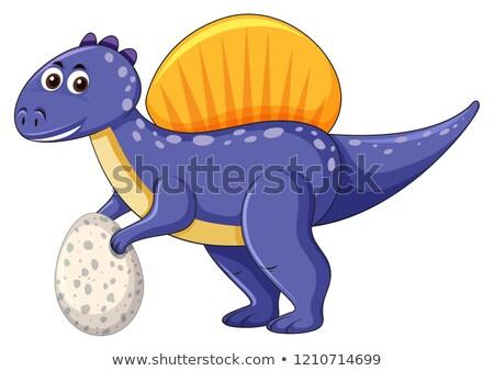 A spinosaurus dinosaur holding egg Stock photo © colematt
