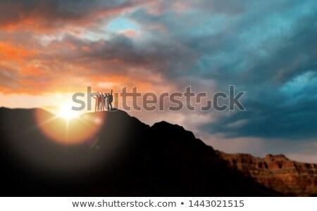 幸せ 女性 リュックサック グランドキャニオン 冒険 旅行 ストックフォト © dolgachov