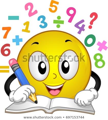 Smiley Math Number Solve Illustration Stock photo © lenm