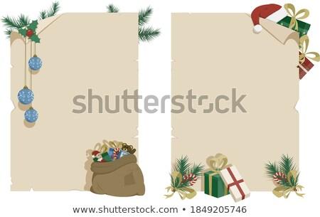 Kerstboom geschenk zak perkament papier boom Stockfoto © clairev