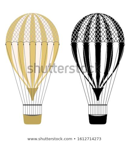 air balloon black icon set stock photo © blaskorizov