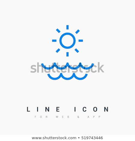 water wave sun tourism logo sign stock photo © blaskorizov