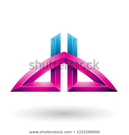 синий пурпурный письма вектора иллюстрация изолированный Сток-фото © cidepix