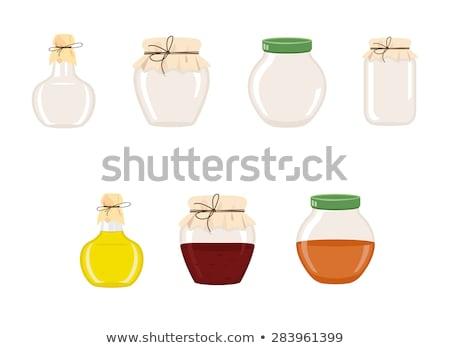 Aceitunas fresas en conserva alimentos vidrio vector Foto stock © robuart