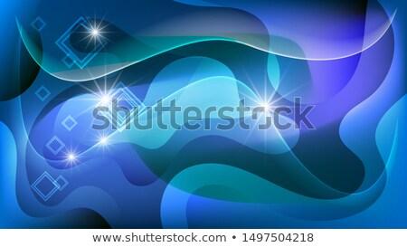 Technológia absztrakt vektor kaotikus görbe mozgás Stock fotó © pikepicture
