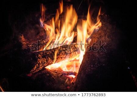 Hombre pie ardor horno humo alrededor Foto stock © AndreyPopov