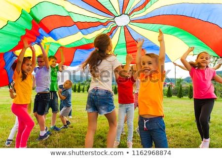 девушки парашютом иллюстрация женщину спорт самолет Сток-фото © adrenalina