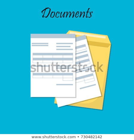 Documents with Signature, Envelopes and Folders Stock photo © robuart