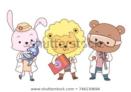 Animaux physique formule illustration animaux élèves Photo stock © lenm