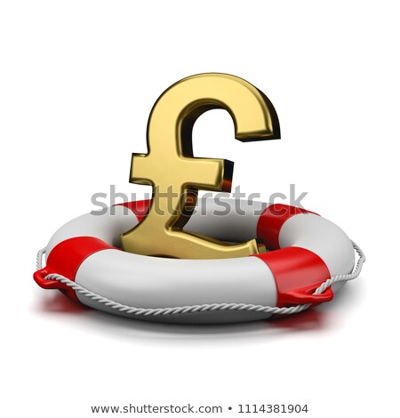 Pound İngilizler para imzalamak altın simge Stok fotoğraf © make