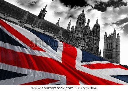 House with flag of england Stock photo © MikhailMishchenko