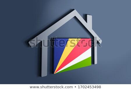 house with flag of seychelles stock photo © mikhailmishchenko