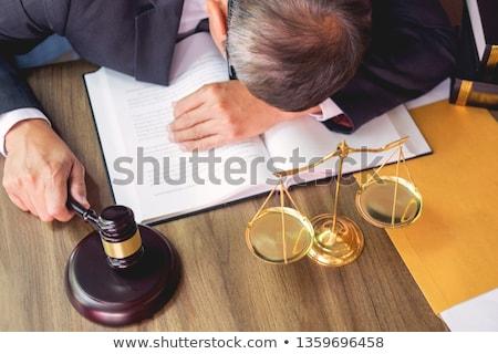 Avukat stres çalışma iş şehir çalışmak Stok fotoğraf © snowing