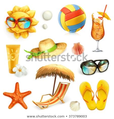 вектора · clipart · пляж · моде · солнце - Сток-фото © bluering
