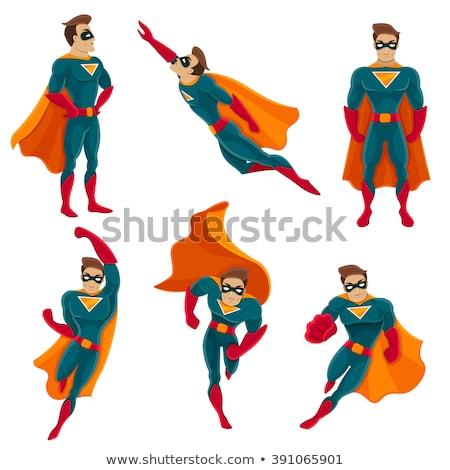Süper kahraman karakter örnek iş adam arka plan Stok fotoğraf © bluering