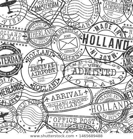 Hollandia szett minta eps 10 ház Stock fotó © netkov1