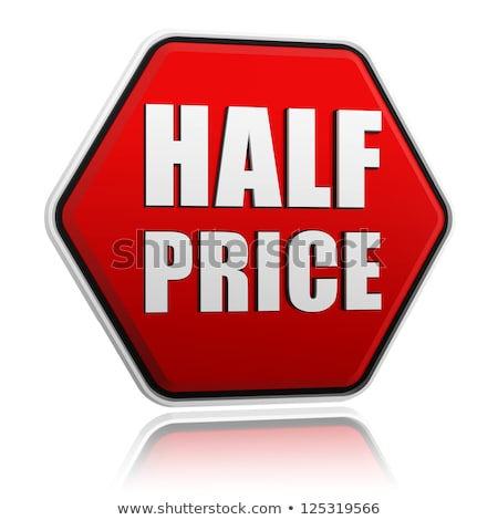 Discounts Reduction Half Price Off Web Sites Stockfoto © marinini