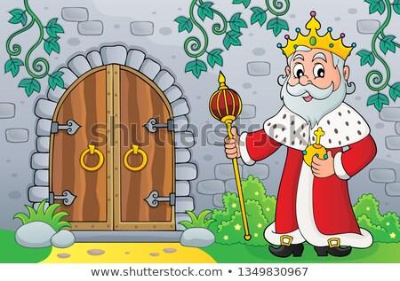 царя старые двери тема изображение человека Сток-фото © clairev