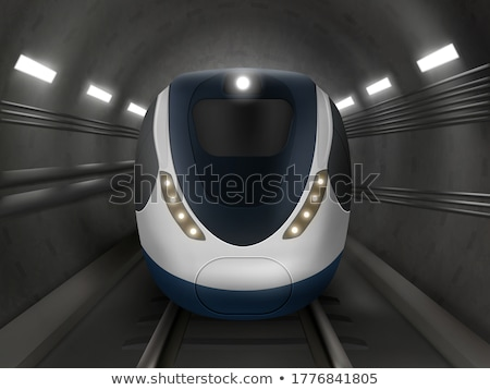 Modern passenger electric train in tunnel underground, subway, metro Stock photo © MarySan