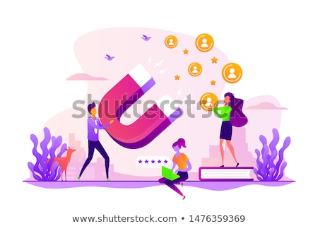 Satisfaction and loyalty analysis concept vector illustration. Сток-фото © RAStudio