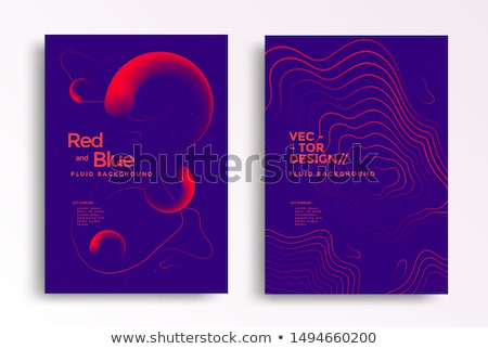 abstract fluid shape background in duotone colors Foto stock © SArts