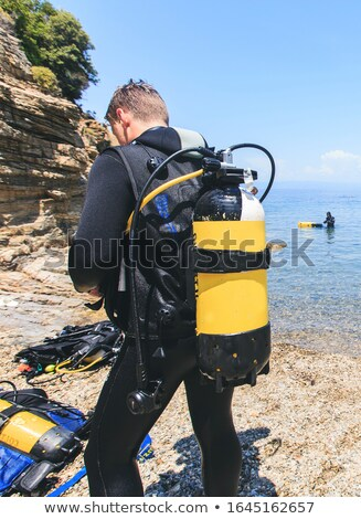 oxygen tank for diver underwater swimming stock photo © studiostoks