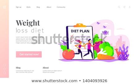 Weight loss diet landing page template. Stock photo © RAStudio