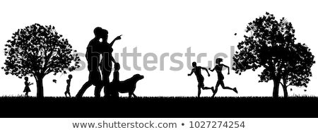 Courir femme jogger parc isolé arbres Photo stock © robuart