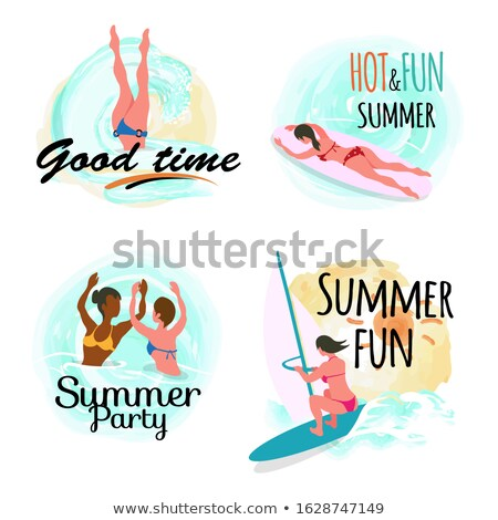 Good Time in Summer, Hot and Fun Summertime Set Stock photo © robuart