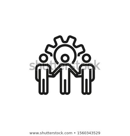Gears Cogwheels Symbolizing Unity and Process Stock photo © robuart