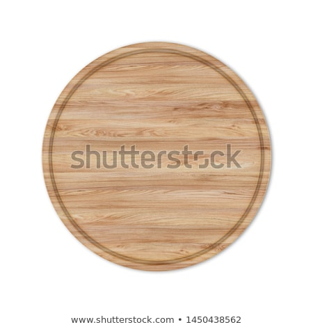 Stock photo: Round boards for pizza from the wood, 3D illustrations.