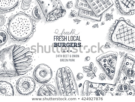 Junk Food Background Frame Stock photo © Lightsource